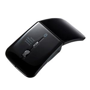 ワイヤレスマウス(超薄型・充電式・Bluetooth3.0・IRセンサー・ブラック)