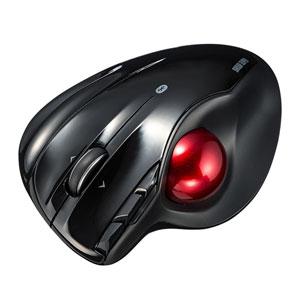 ワイヤレストラックボール(Bluetooth4.0・レーザーセンサー・左右スクロール・ブラック)
