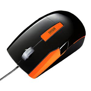 【わけあり在庫処分】 ジェスチャーマウス(ブラック&オレンジ)