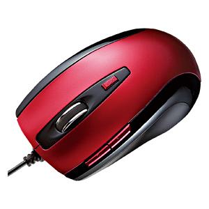【わけあり在庫処分】5ボタンレーザーマウス(レッド)