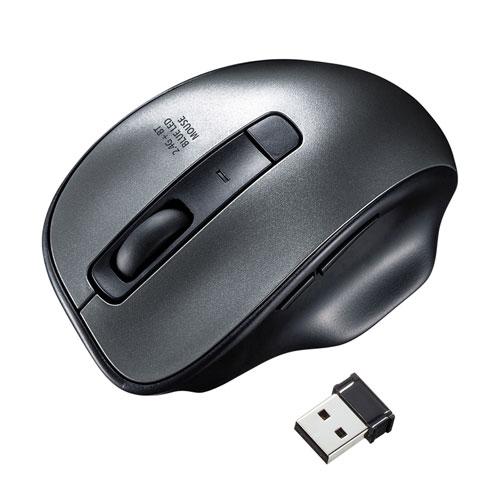 ワイヤレスブルーLEDコンボマウス(ガンメタ)