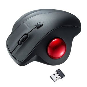 トラックボールマウス(ワイヤレス・エルゴノミクス・静音・親指・3ボタン)