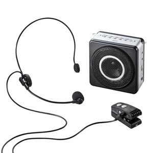 ワイヤレスポータブル拡声器 18W出力 microSD音楽再生機能つき