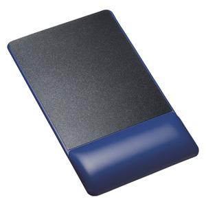 リストレスト付きマウスパッド(レザー調素材、高さ18.5mm、ブルー)