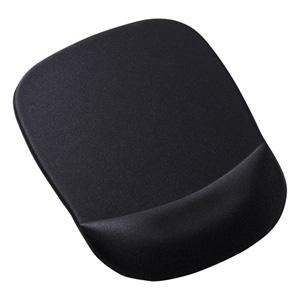 低反発リストレスト付きマウスパッド(ブラック)