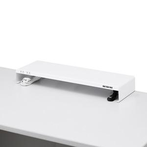 机上ラック電源タップ+USBポート付き/(W600×D200mm・ホワイト)