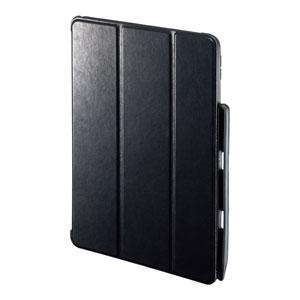 iPad Air  2019 ケース(ソフトケース・高級PUレザー・Apple Pencil収納ポケット付き・ブラック)