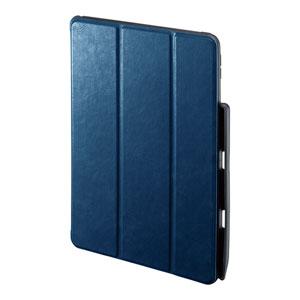 iPad Air  2019 ケース(ソフトケース・高級PUレザー・Apple Pencil収納ポケット付き・ブルー)