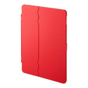 iPad 10.2インチ用ケース(第7世代・ハードケース・耐衝撃・耐熱・スタンドタイプ・レッド)