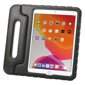 iPad 10.2インチ用ケース(第7世代・衝撃吸収・セミハード・子供用・ブラック)