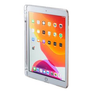 iPad 10.2インチ Apple Pencil収納ポケット付きクリアカバー
