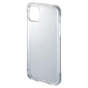 iPhone 11 Pro Max用ケース(耐衝撃・TPU・ストラップホルダー・クリア)