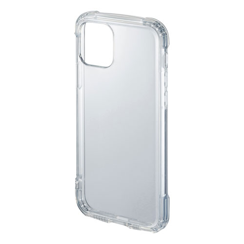 iPhone 11用ケース(耐衝撃・TPU・ストラップホルダー・クリア)