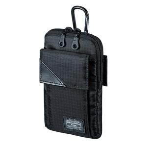 スキミング防止ポケット付きマルチガジェットケース(M・ブラック)