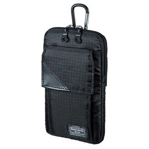 スキミング防止ポケット付きマルチガジェットケース(L・ブラック)