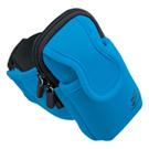 【わけあり在庫処分】アームバンドスポーツケース(iPhone、スマートフォン用・ブルー)