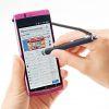 スマートフォン&タブレット用タッチペン(ストラップタイプ・ブラック)
