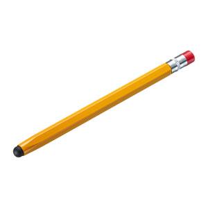 シリコンゴムタッチペン(オレンジ・鉛筆型)