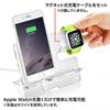 【わけあり在庫処分】Apple Watch・iPhone用充電スタンド(iPhone XS/iPhone XS Max/iPhone XR/Apple Watch 4対応・ブラック)