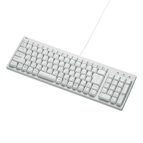 コンパクトキーボード(テンキー付き・ホワイト)