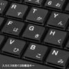 スリム USBキーボード テンキー無し ブラック
