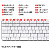 マウス付きワイヤレスキーボード(静音ブルーLEDマウス・ホワイト)