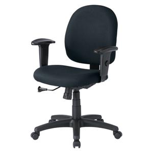 パソコン用オフィスチェア(肘あて付き・ブラック)