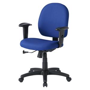 事務用オフィスチェア(肘あて付き・ブルー)