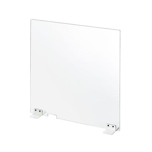 飛沫対策 透明アクリル製卓上パーティション W600