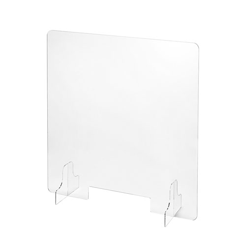 飛沫防止用透明アクリル卓上パーティション(小窓付き・W600×D170×H600mm)