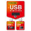 キーボード・マウス用パソコン切替器(2:1)
