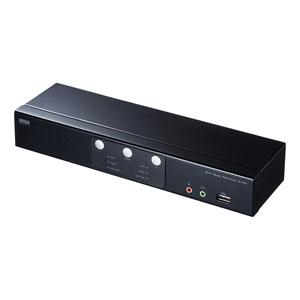 パソコン自動切替器(DVI対応 ・2:1・フルHD・デュアルモニター)