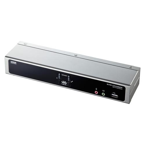 デュアルリンクDVI対応パソコン自動切替器(2:1)