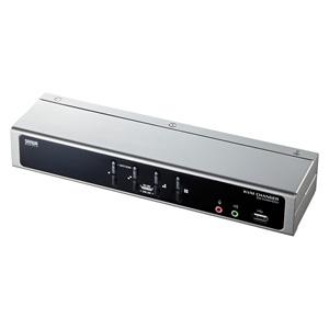 デュアルリンクDVI対応パソコン自動切替器(4:1)