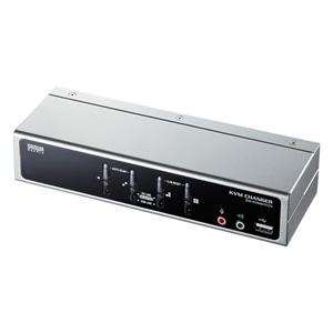 USB・PS/2コンソール両対応パソコン自動切替器(4:1)
