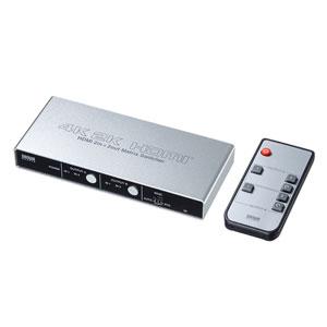 HDMI切替器(2入力2出力・4K60Hz・HDCP対応・マトリックス・アナログ/光デジタル音声出力)