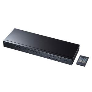 HDMIマトリックス切替器(4K/30Hz対応・6入力2出力・リモコン付き)