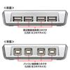 USB2.0ハブ付き手動切替器(4回路)
