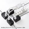 AC延長コード(ACアダプタ専用・4分岐・ホワイト)