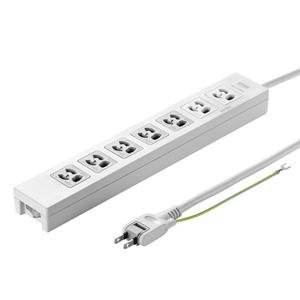 電源タップ(3P・7個口・3m・5個口連動集中スイッチ付・絶縁キャップ付2Pスイングプラグ)