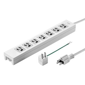 電源タップ(3P・7個口・5m・一括集中スイッチ付・3P→2P変換アダプタ付き)