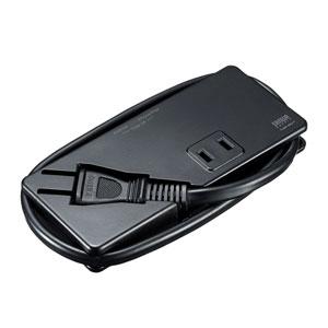 【わけあり在庫処分】モバイルタップ(AC2個口・USB充電2ポート・薄型・ブラック)