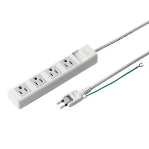 電源タップ(3P・4個口・2.5m・マグネット付)