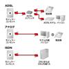 モジュラーケーブル(コア付・シールド・ツイスト・シルバー・1m)