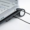 ノートパソコンクーラー(14.1Wまで・ブラック・USB電源タイプ・熱暴走対策)