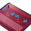 ノートパソコンクーラー(14.1Wまで・レッド・USB電源タイプ・熱暴走対策)