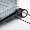 ノートパソコンクーラー(16Wまで・ブラック・USB電源タイプ・熱暴走対策)