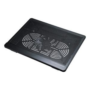 ノートパソコン用クーラー(ファン左右移動可・冷却・12インチワイド~15.6インチワイド対応)