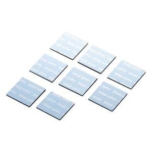ノートパソコン冷却パット(17mm・角型・8枚入り・ブルー)