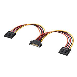 SATA電源ケーブル(電源分岐ケーブル・シリアルATA・2分岐・0.2m)